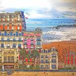 StepArt - Biarritz, vue mer - technique mixte - 80 x 80 cm - 2800 €