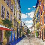 StepArt - Pau, rue Valérie Meunier - technique mixte - 45 x 60 cm - 1200 €