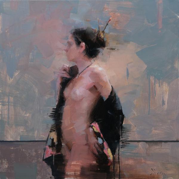 Jacob Dhein – Nude – oil on wood – 76 x 76 cm – 4900 €