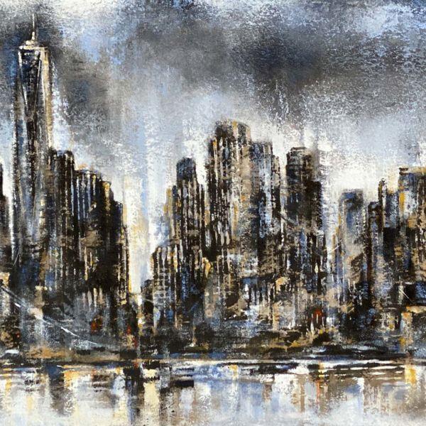 Agnès B Davis – New York – acrylique sur toile – 50 x 85 cm