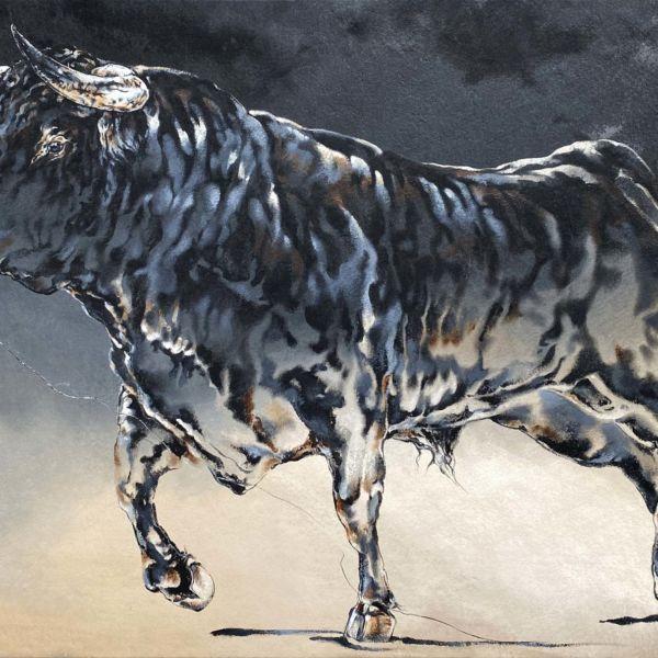 Agnès B Davis – Taurus II – acrylique sur toile – 89 X 146 cm