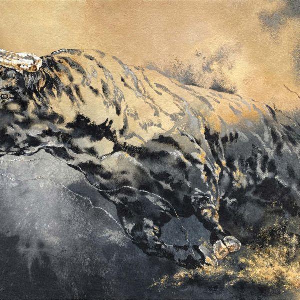 Agnès B Davis – Taurus – acrylique sur toile – 65 x 92 cm