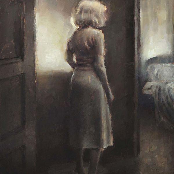 Nicolas Martin – La chambre à coucher – Huile sur bois – 30 x 23 cm – 1000 €