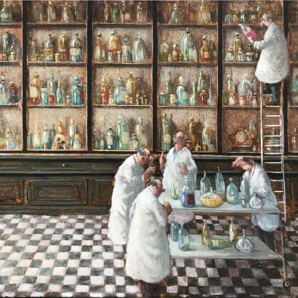 Thomas Bossard – Y'a pot ! – huile sur toile – 82 x 116 cm – vendu