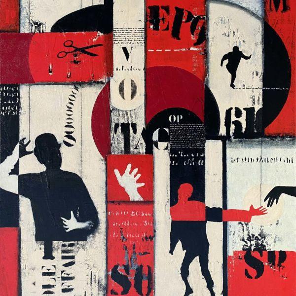 Didier Delgado – Drôle d'affaire – acrylique sur toile – 81 x 65 cm – 2000 €
