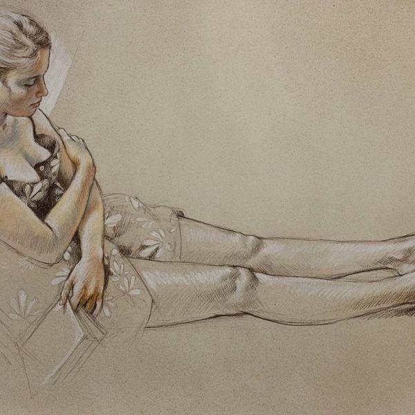Francine Van Hove – Les Pieds dans de soleil – Pastel – 75 x 106 cm – 5000 €