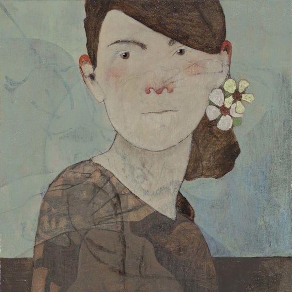 André Lundquist – Féminin pluriel VI – huile sur toile – 40 x 40 cm – 2500 €
