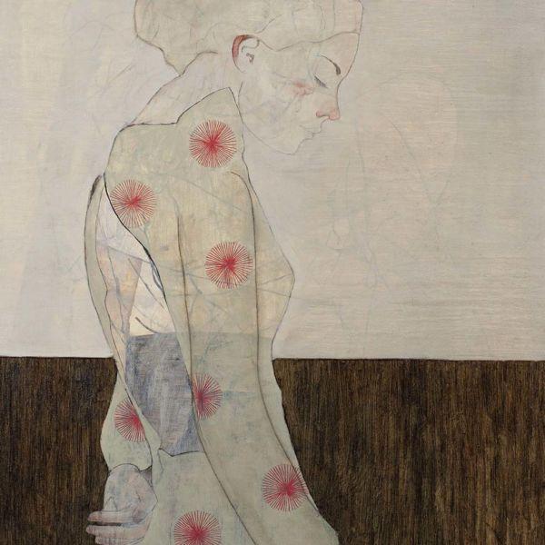André Lundquist – Féminin pluriel VIII – huile sur toile – 100 x 80 cm – vendu