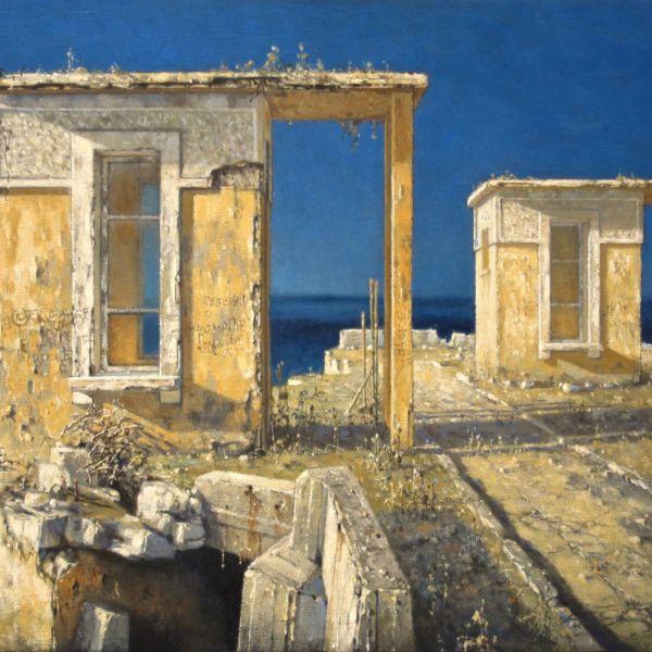 Christian Benoist – Edicules jumeaux – huile sur toile – 46 x 61 cm – vendu