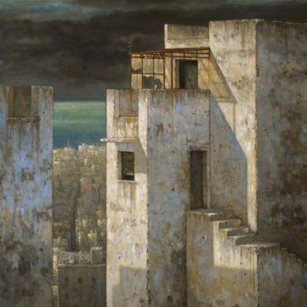 Christian Benoist – Hauteurs – huile sur toile – 60 x 60 cm – 4400 €