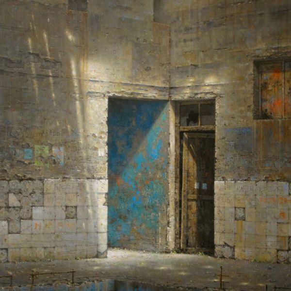 Christian Benoist – Les deux passages – Huile sur toile – 92 x 65 cm – vendu