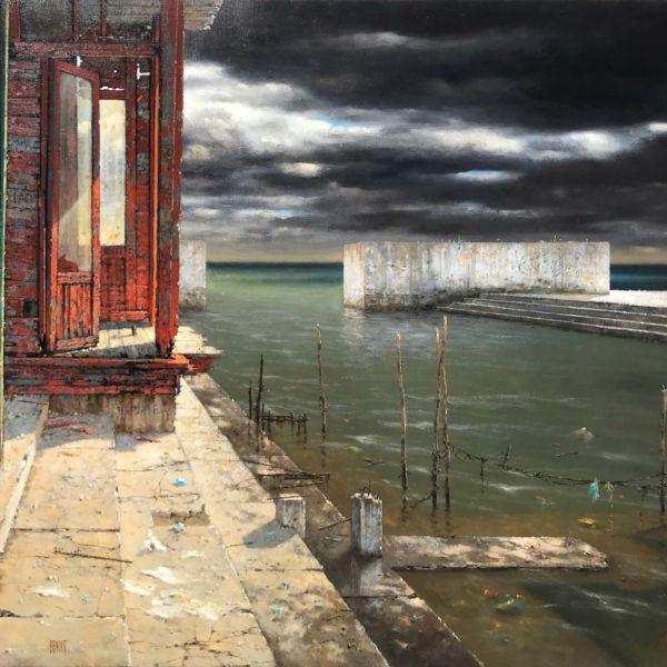 Christian Benoist – Rive Gauche – huile sur toile – 72 x 92 cm – 6600 €