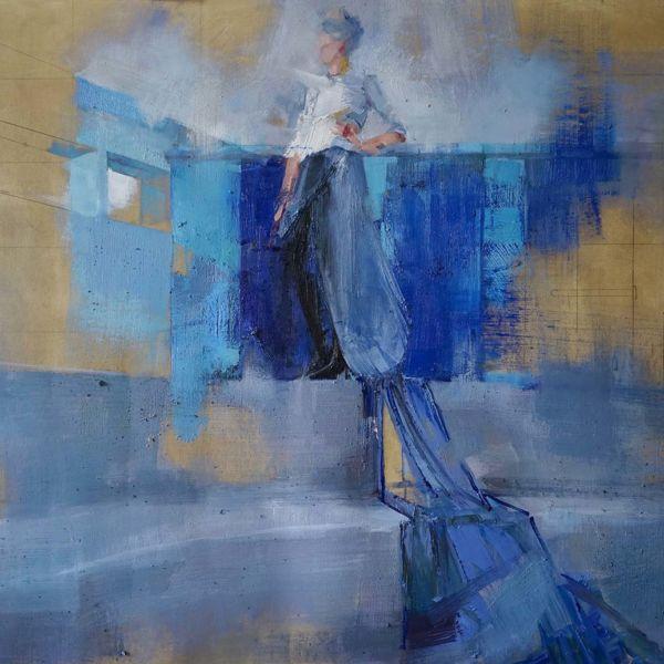 Nushka – Cercle des Nageurs – huile sur toile – 100 x 150 cm – 6100 €