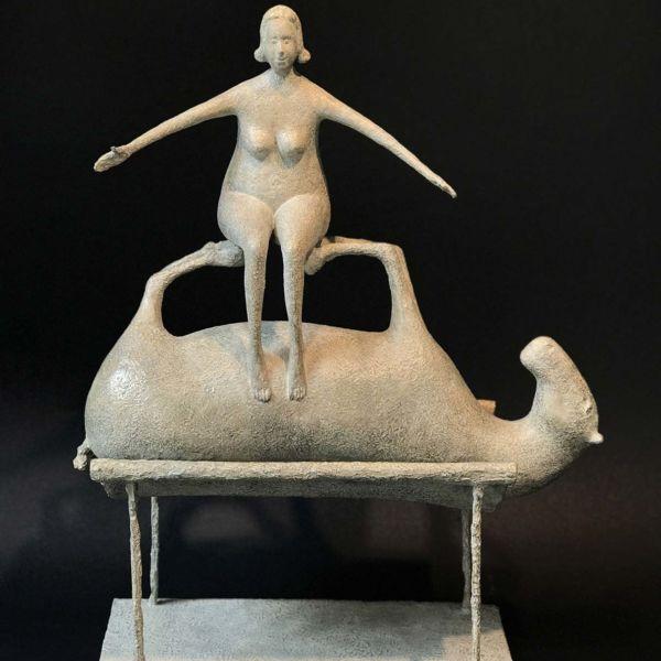 Lucette Brandy – Equi-libre – bronze 2/8 – 37 x 46 x 14 cm – 6800 €