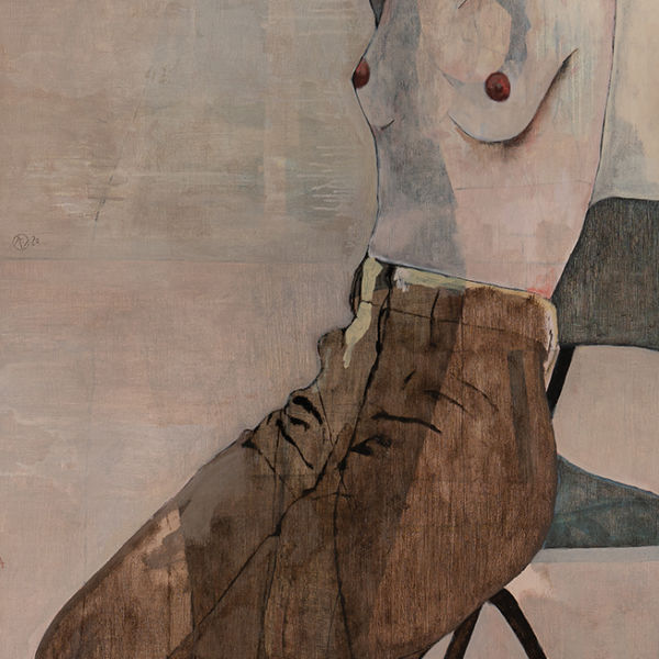 André Lundquist - A Fleur de toile 10 - huile sur toile - 200 x 80 cm - 6500 €