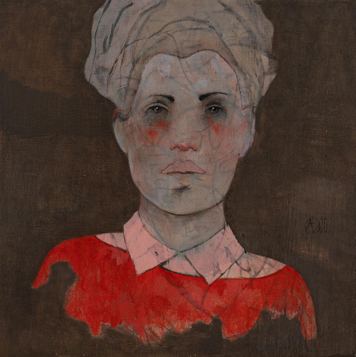 André Lundquist - A Fleur de toile 11 - huile sur toile - 45 x 45 cm - 3000 €