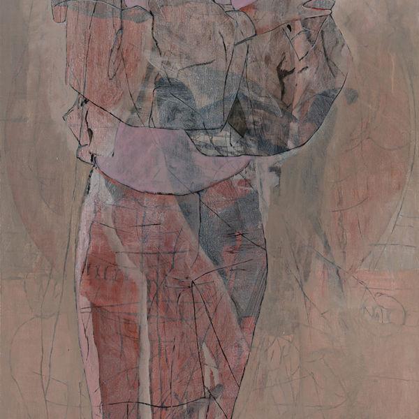 André Lundquist - A Fleur de toile 12 - huile sur toile - 180 x 80 cm - 6000 €
