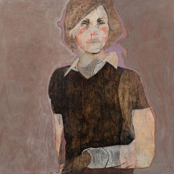 André Lundquist - A Fleur de toile 14 - huile sur toile - 80 x 80 cm - 3800 €