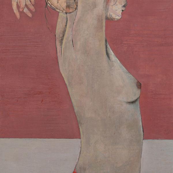 André Lundquist - A Fleur de toile 15 - huile sur toile - 100 x 65 cm - 4000 €