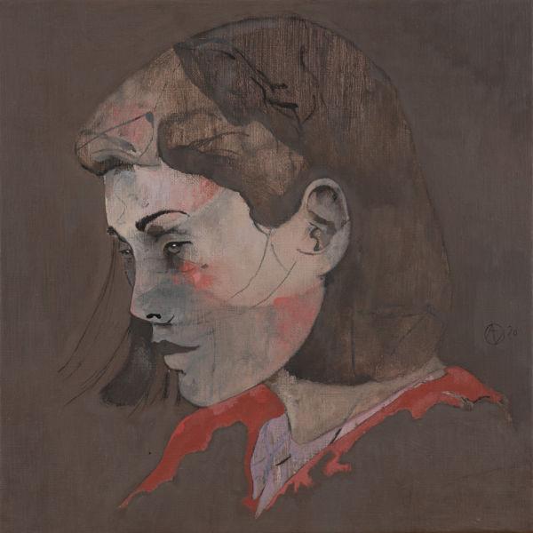 André Lundquist - A Fleur de toile 18 - huile sur toile - 40 x 40 cm - 2500 €