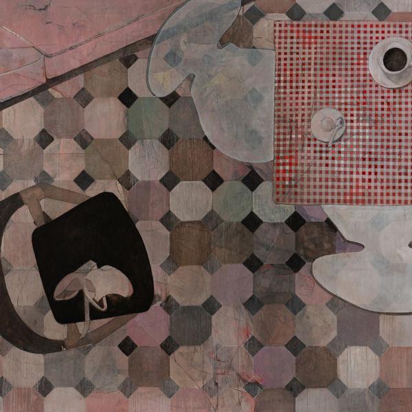 André Lundquist - A fleur de toile 2 - huile sur toile - 150 x 150 cm - 10500 €