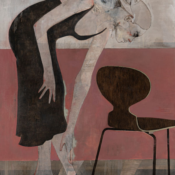 André Lundquist - A Fleur de toile 20 - huile sur toile - 180 x 120 cm - 10500 €