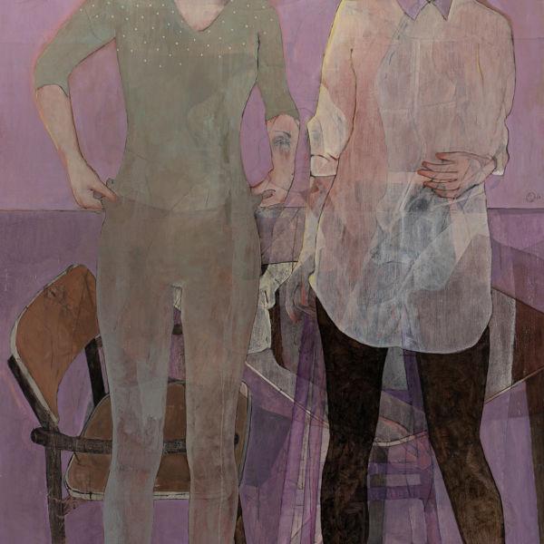 André Lundquist - A Fleur de toile 21 - huile sur toile - 180 x 120 cm - 10500 €