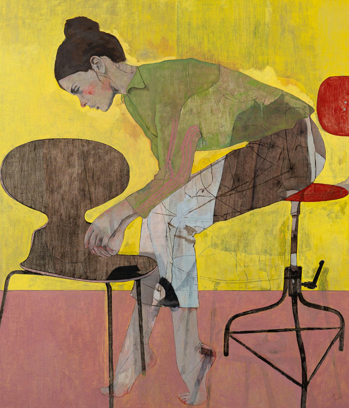André Lundquist - A Fleur de toile 22 - huile sur toile - 140 x 120 cm - 7000 €
