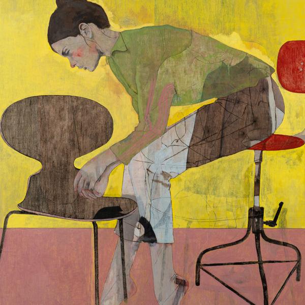 André Lundquist - A Fleur de toile 22 - huile sur toile - 140 x 120 cm - vendu