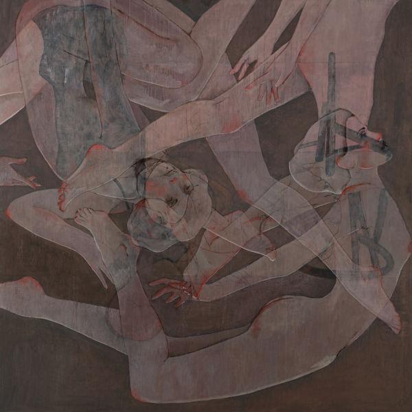 André Lundquist - A fleur de toile 3 - huile sur toile - 150 x 150 cm - 10500 €