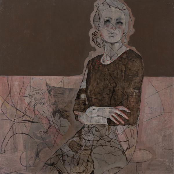 André Lundquist - A Fleur de toile 5 - huile sur toile - 100 x 100 cm - 5000 €