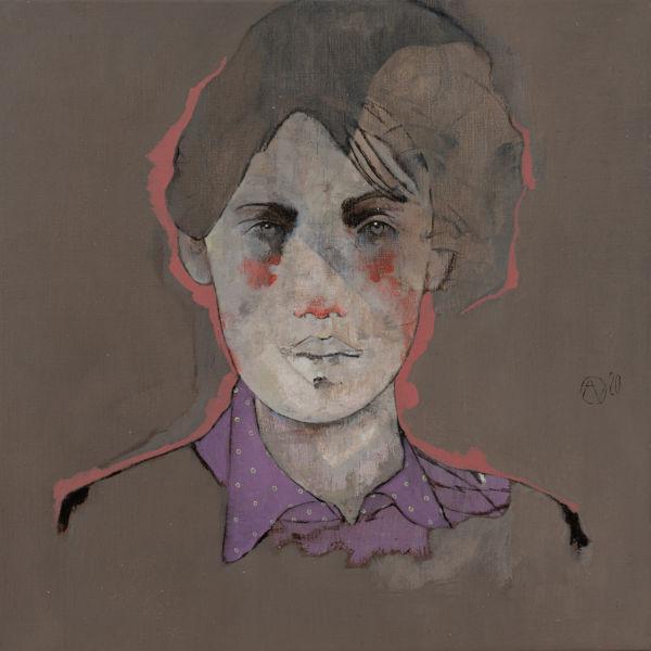 André Lundquist - A Fleur de toile 7 - huile sur toile - 45 x 45 cm - 3000 €