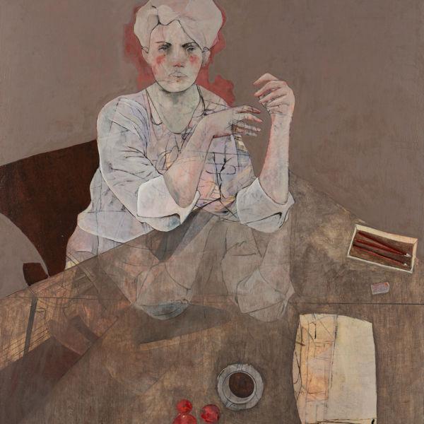 André Lundquist - A Fleur de toile 9 - huile sur toile - 135 x 120 cm - vendu