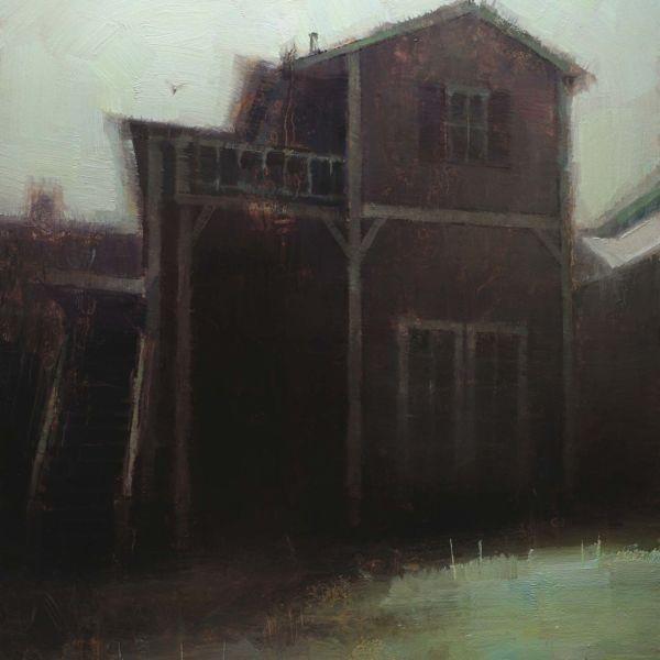 Nicolas Martin – The Appartments – huile sur toile – 30 x 23 cm – 1200 €