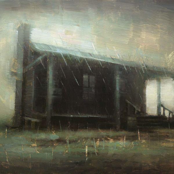 Nicolas Martin – Under the rain – huile sur toile – 23 x 30 cm – 1200 €