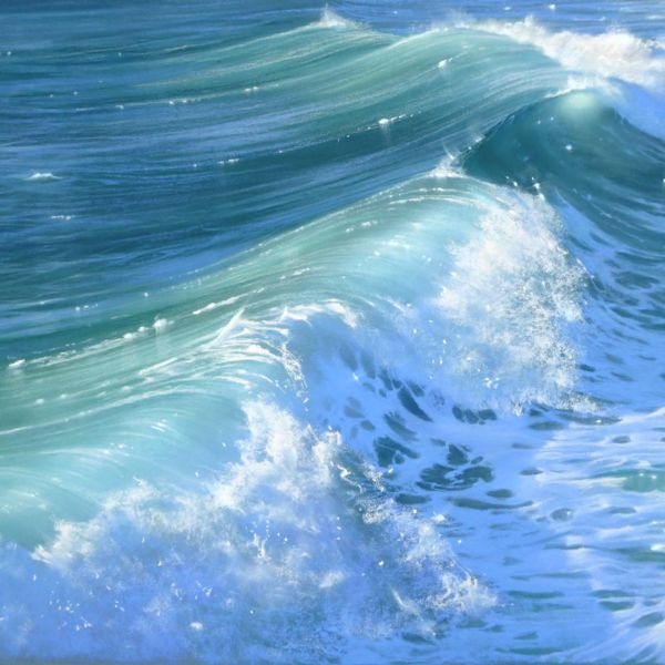Nicole Stamatakis – Anglet, Digue de la Barre – 44 x 64 cm – vendu