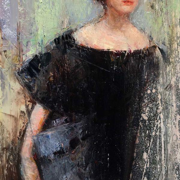 Olga Krimon – Soprano – huile sur bois – 47 x 24 cm – 1700 €