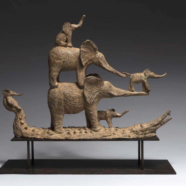 Sophie Verger – La barque sacrée – 55 x 60 x 20 cm – Bronze – 5800 €