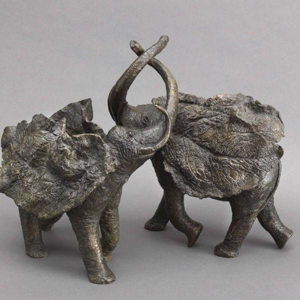Sophie Verger – La Valse – Bronze 2:8 – 47 x 37 x 30 cm et 42 x 39 x 20 cm – 5900 €