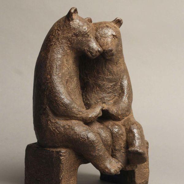 Sophie Verger – Les fiancés sur un banc – Bronze – 29,5 x 15,5 x 16,5 cm – 2900€
