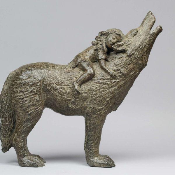 Sophie Verger Loup et fillette – Bronze – 40 x 40 x 16 cm – 3600€