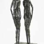 Nancy Vuylsteke - Résonnance - bronze - 17 x 16 x 37 cm - 3500 €