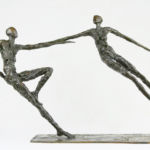 Nancy Vuylsteke - Something in the air - bronze - 67 x 17 x 40 cm - 4500 €
