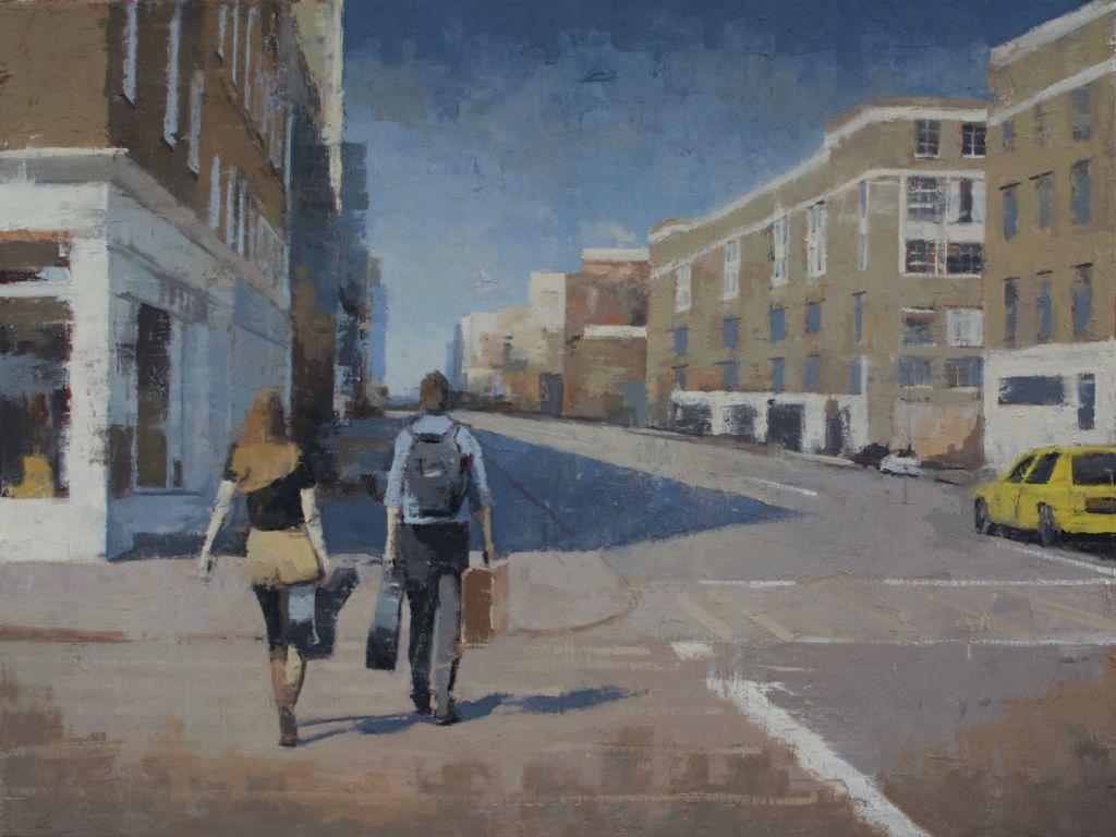 Charles Ducroux - Couple de Musiciens - New York - huiles sur toile - 60 x 80 cm - 2500 €