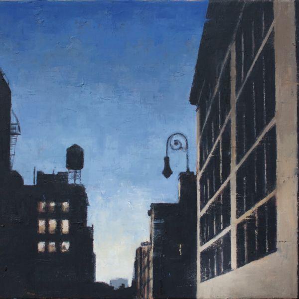 Charles Ducroux - New York Crépuscule - huile sur toile - 65 x 50 cm - 1900€