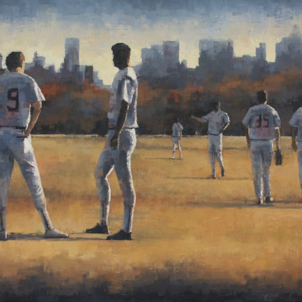 Charles Ducroux - Baseball, New York - huile sur toile - 89 x 116 cm - 3500 €