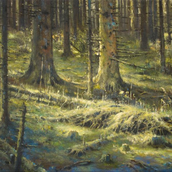 Christian Benoist - Lit d'humus - huile sur toile - 33 x 46 cm - 1900 €