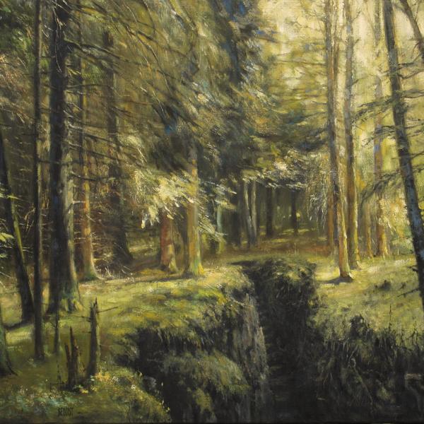 Christian Benoist - La faille noire - huile sur toile - 50 x 73 cm - 4500 €