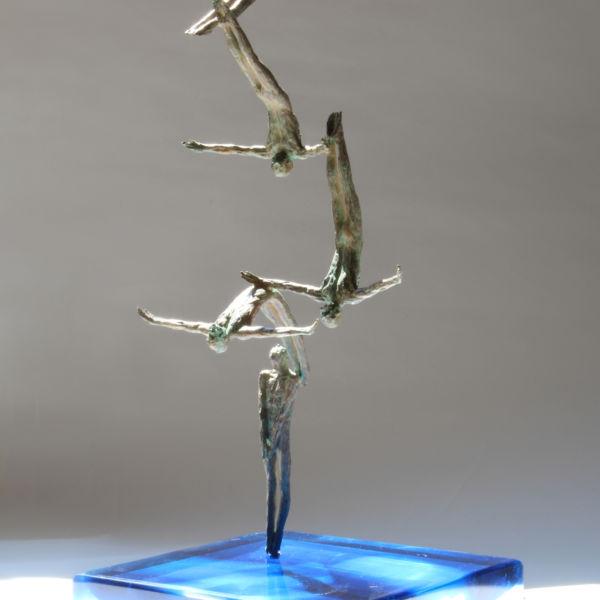 Claire Fontana - Divo - bronze et cristal - 25 x 25 x 56 cm - 5000 €