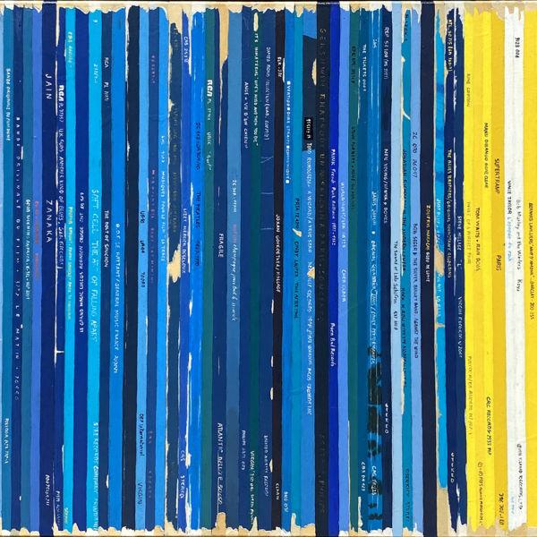 Didier Delgado - Bande son Remix de Clyfford Still - acrylique sur toile - 40 x 80 cm - 1800 €